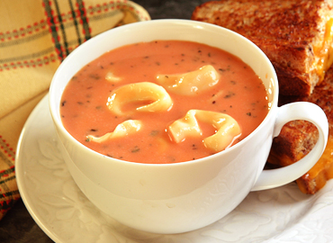 Pond Brook Cookbook: Creamy Tomato Tortellini Soup