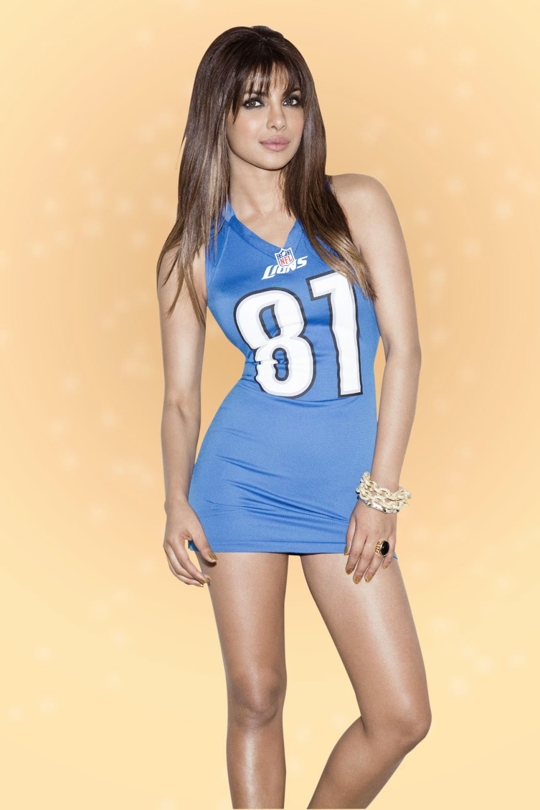 Priyanka Chopra in Mini NFL jersey