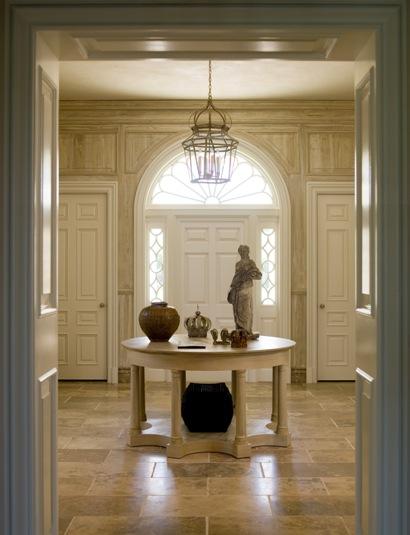 entry foyer table chandelier lighting entrance doors. Black Bedroom Furniture Sets. Home Design Ideas