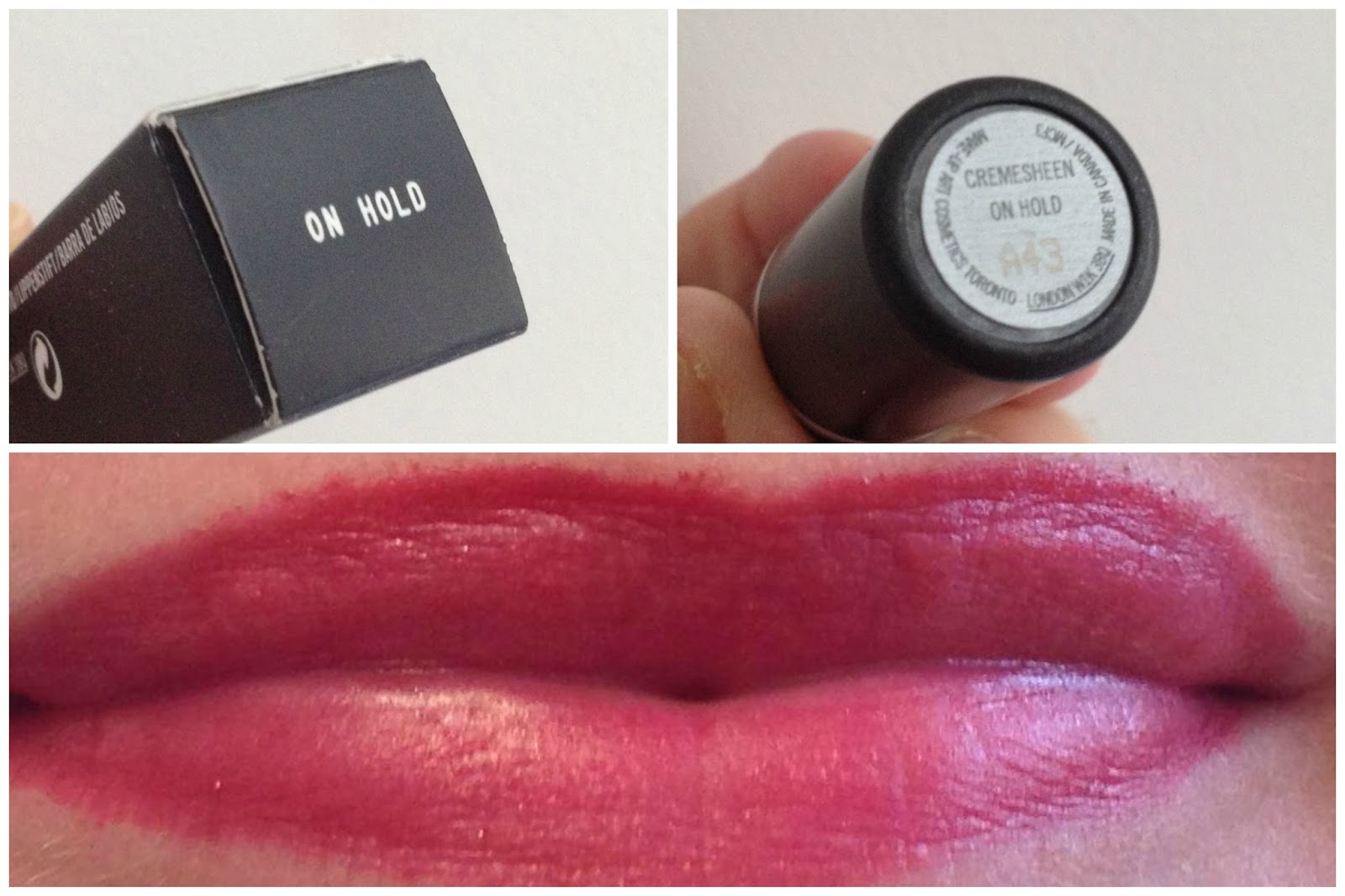 MAC On Hold Cremesheen Lipstick