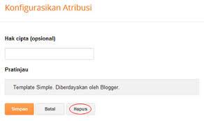 Cara menghilangkan diberdayakan oleh blogger di blog