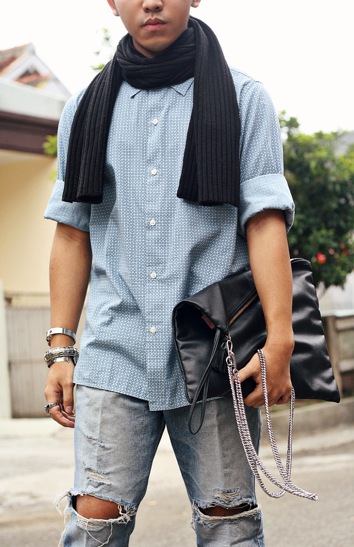 MEN'S FASHION BLOGGER INDONESIA IN MARC JACOBS TSHIRT