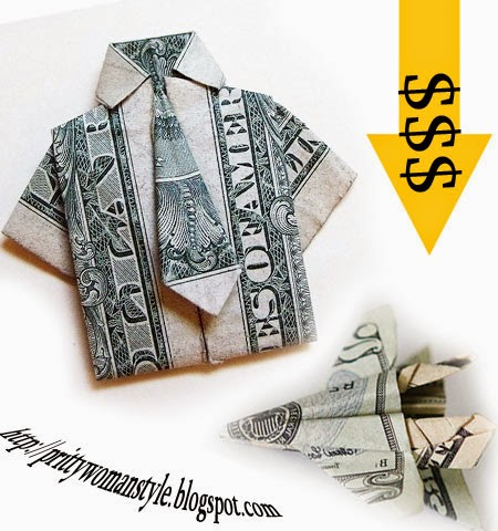Как да подарим пари оригами за Коледа