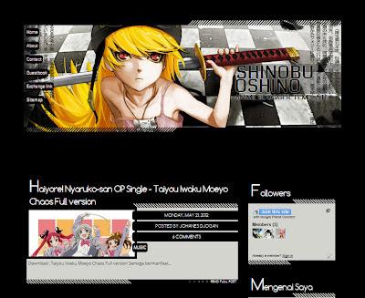 Shinobu Oshino blogger templates