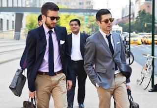 Mężczyźni w krawatach knit