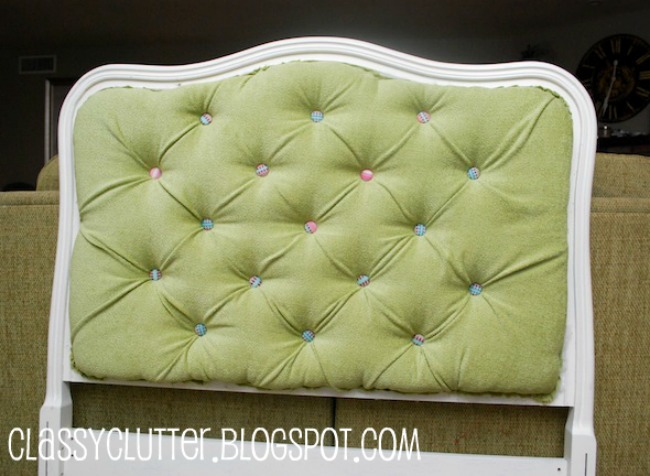 Diy Upholstered Tufted Headboard Tutorial Classy Clutter