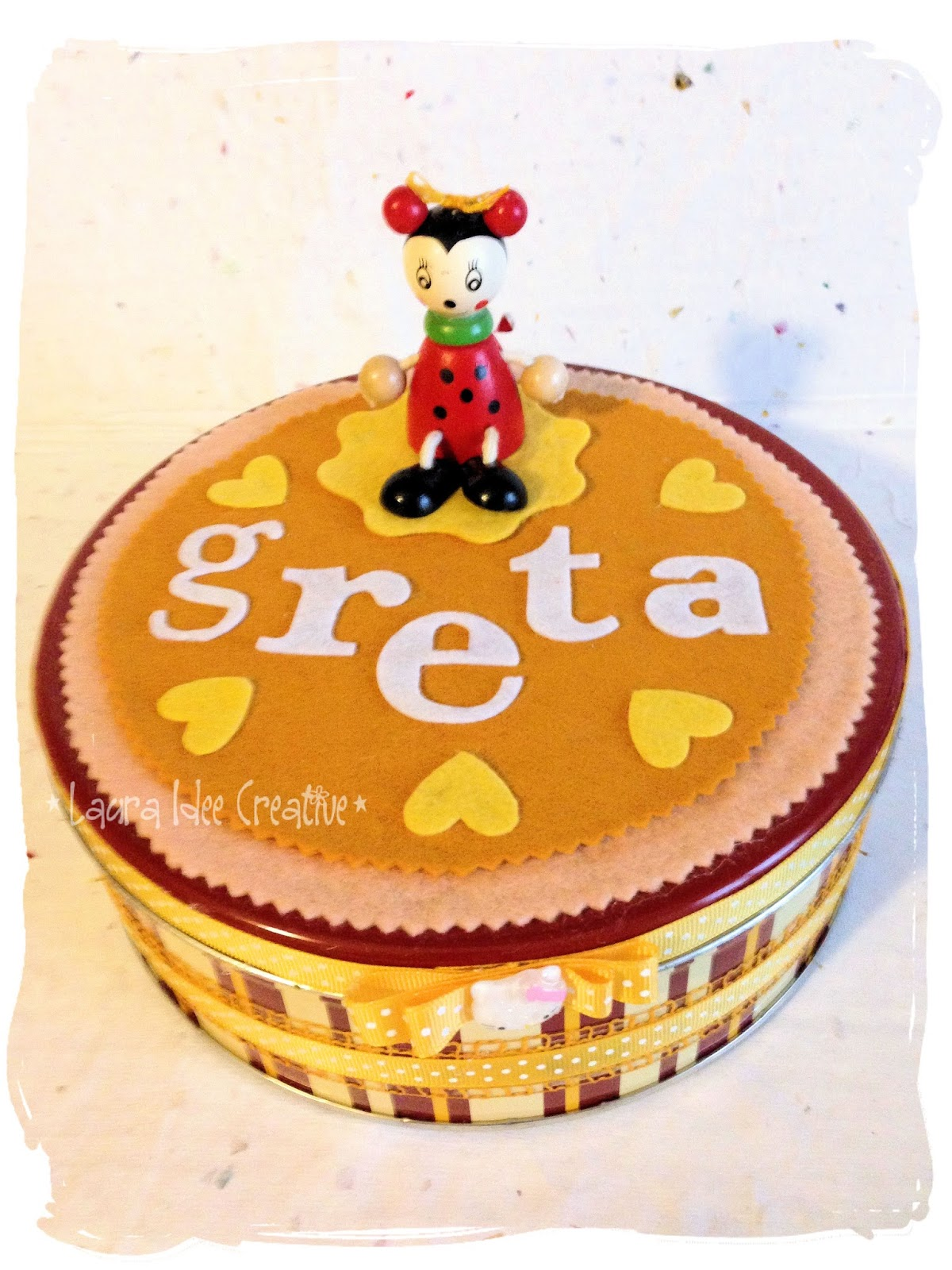 Laura idee creative scatole decorate per compleanno o idea regalo - Scatole di legno decorate ...