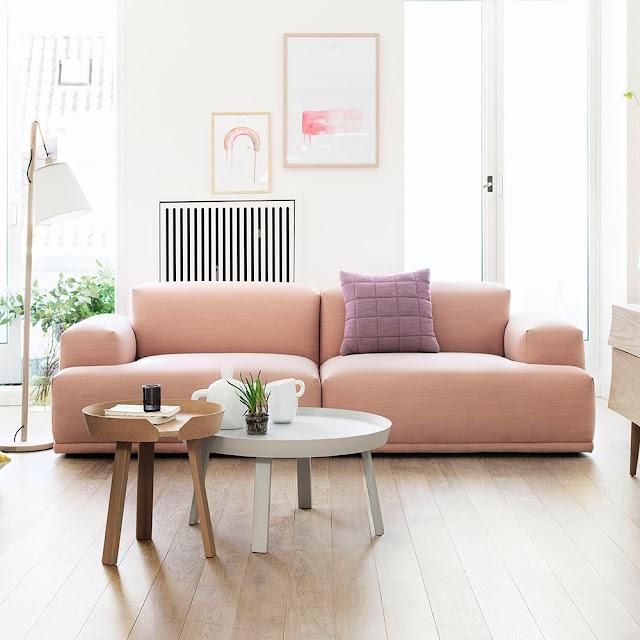 pink blush sofa