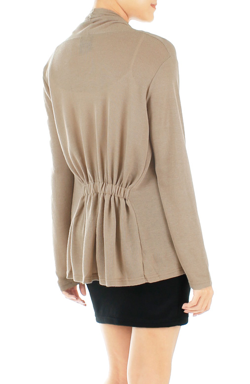 Slouchy Fine Knit Cardi - Cocoa
