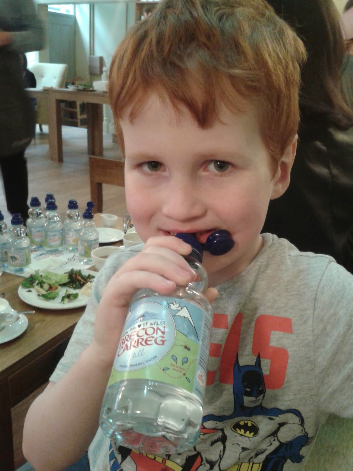 Ieuan Hobbis drinking Brecon Carreg water - motherdistracted.co.uk
