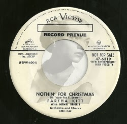 """Nothin' For Christmas"" by Eartha Kitt, Candycane's favorite rape-awareness Christmas song"