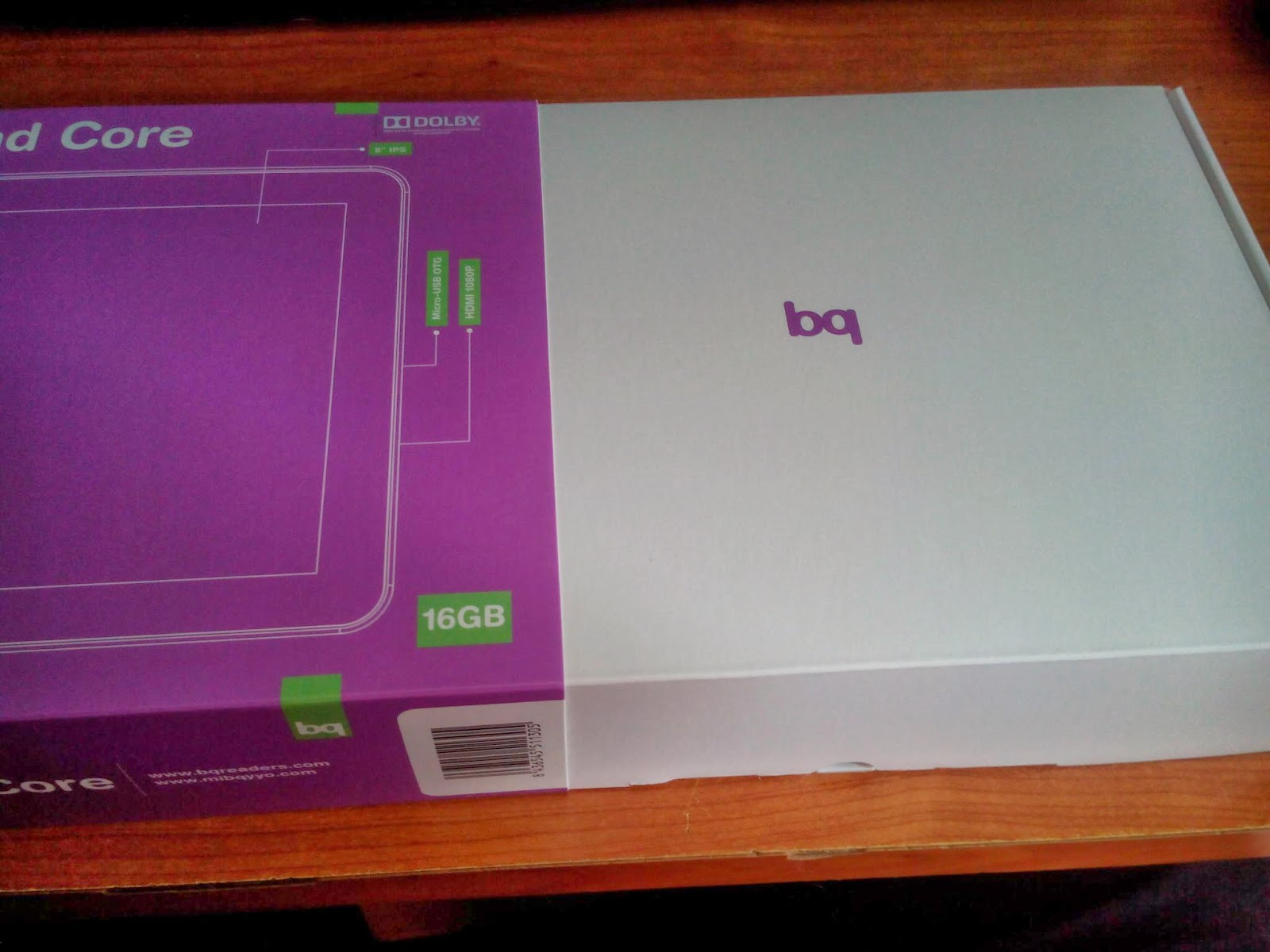 Tablet BQ Curie 2 quadcore unboxing