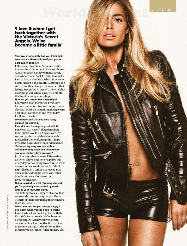 Magazine Photoshoot : Doutzen Kroes Photoshoot For Glamour Magazine South Africa February 2014 Issue