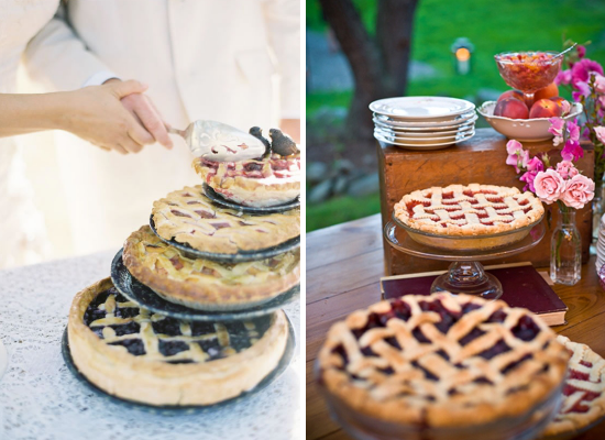 Wedding cake alternative ideas, wedding dessert, wedding pies
