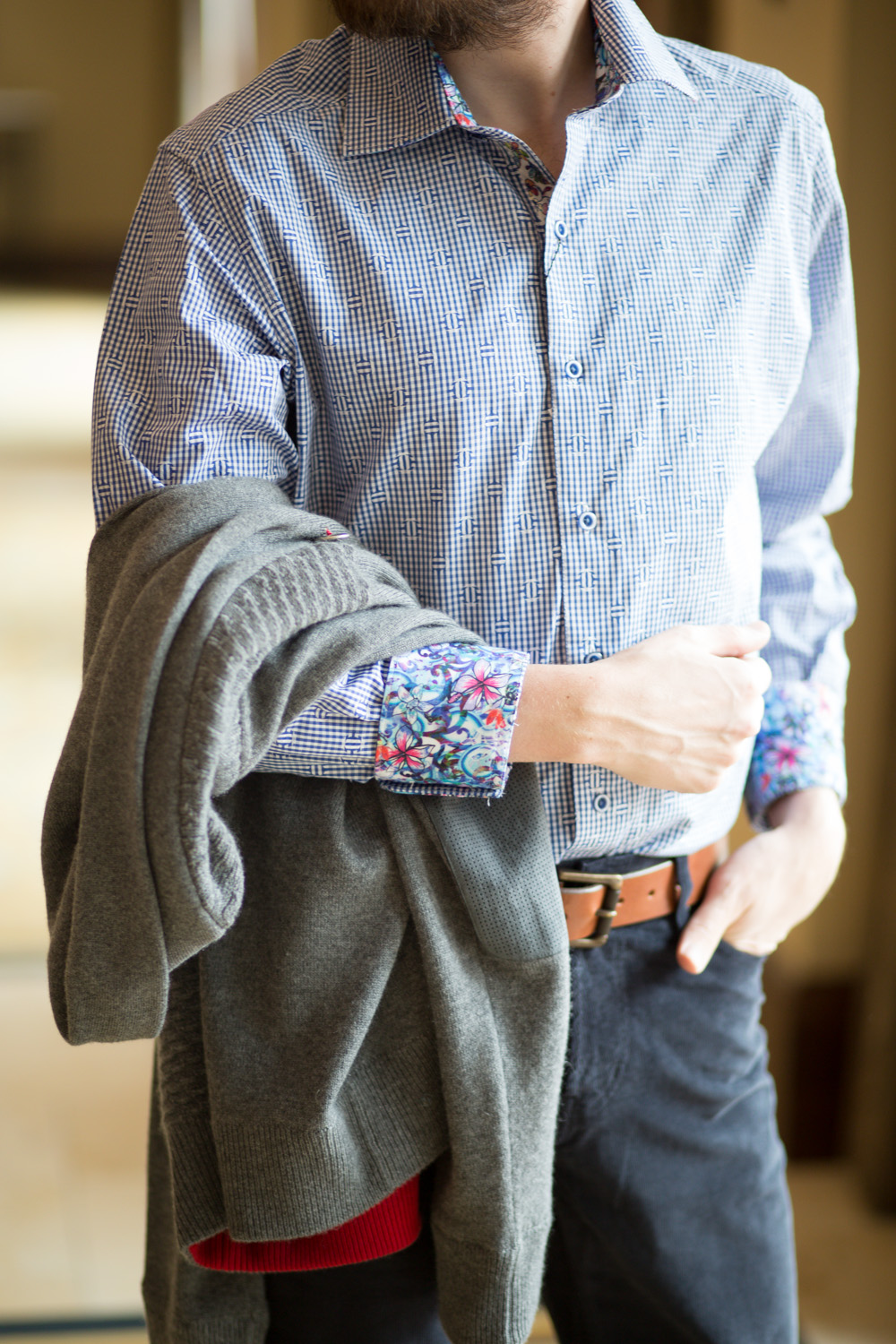 Floral Menswear Top