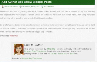 add author information box below blogger posts