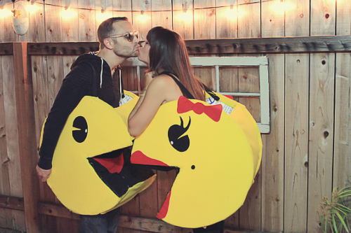 Let me give you an idea of how we made these. We started at Home Depot. We ended up buying huge pieces of foam board (it appears they serve some kind of ... & Couples Halloween Costume: DIY Pacman u2013 Julie Ann Art
