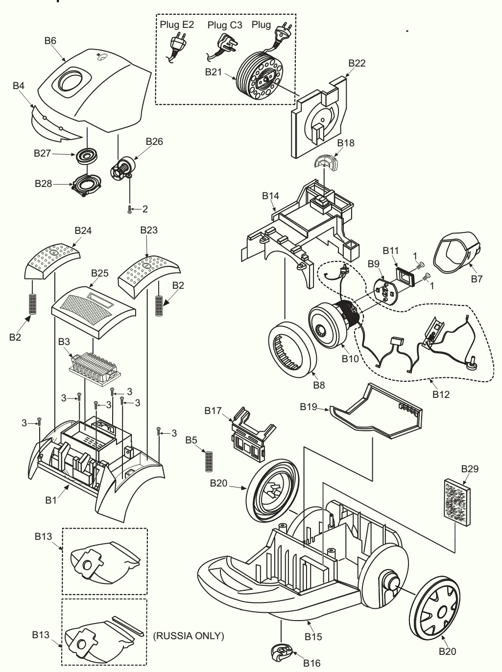 how to disassemble panasonic vacuum cleaner mc