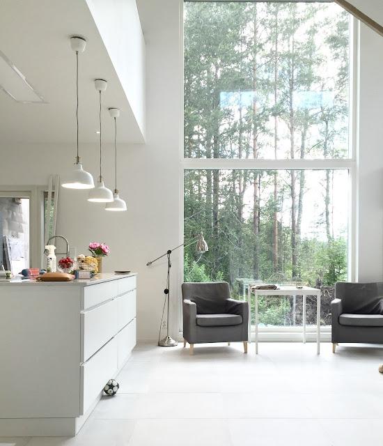 keittiö, kvik, mano, isot ikkunat