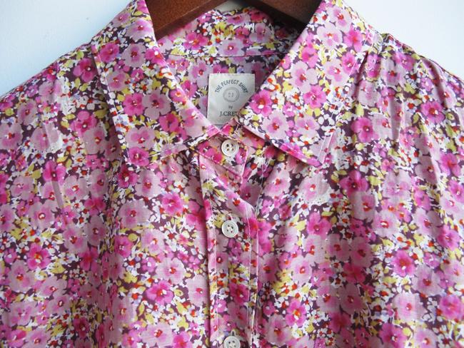 Shop Pink Horrorshow: JCrew Pink Floral Shirt