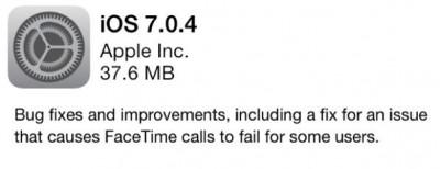 Masih Banyak Bug, Apple Akhirnya Rilis Update iOS 7.0.4