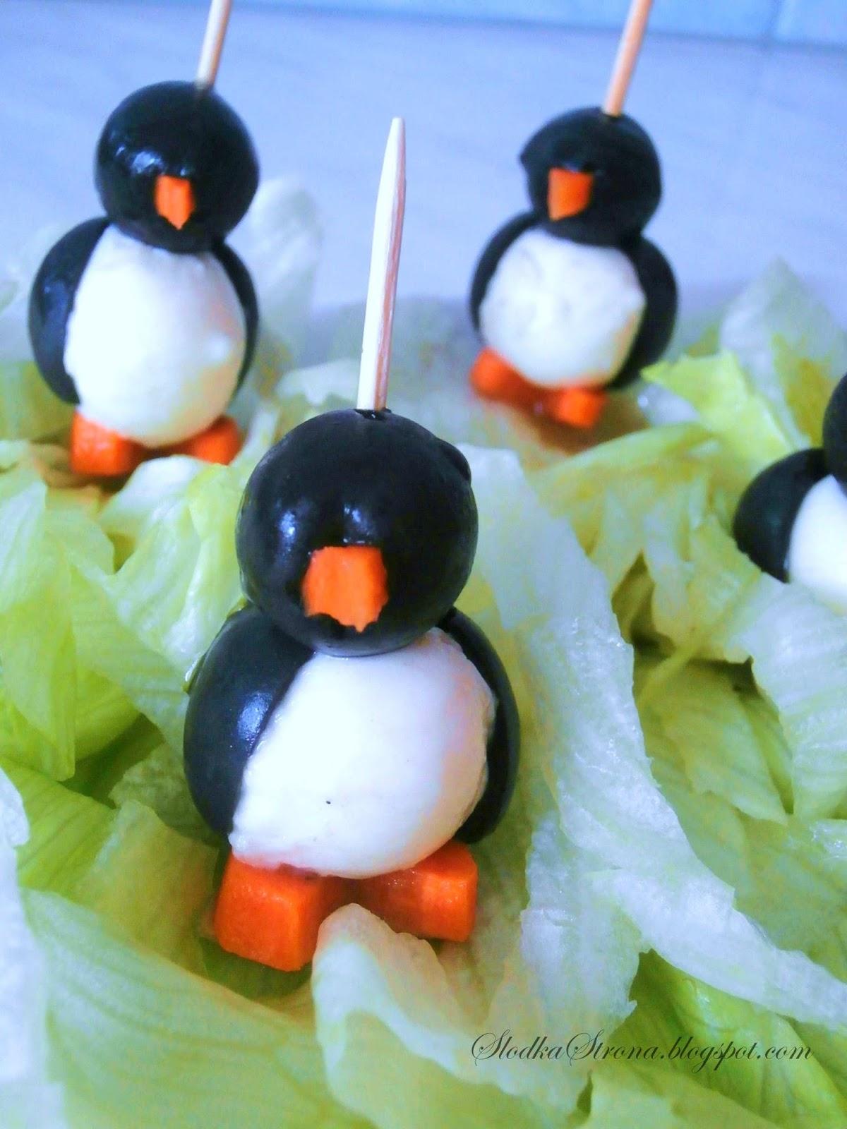 Pingwinki z Mozzarelli i Oliwek  Przepis - Słodka Strona