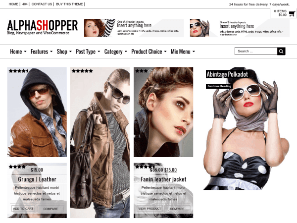 Alphashopper - WooCommerce WP