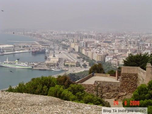 Málaga vista do Castillo Gibralfaro