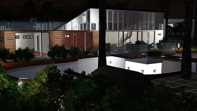 Maison de sims for Exterieur sims 4