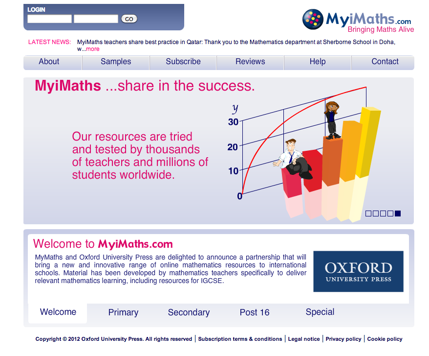 Myimaths online homework     math staff throughout the       school year to develop instructional  strategies and activities that inspire our teachers to continue bringing  math alive