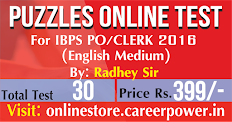PUZZLES FOR IBPS 2016 And SBI PO 2016