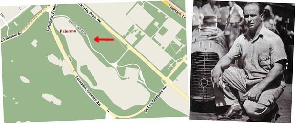 Fangio tendrà su calle en los bosques de Palermo