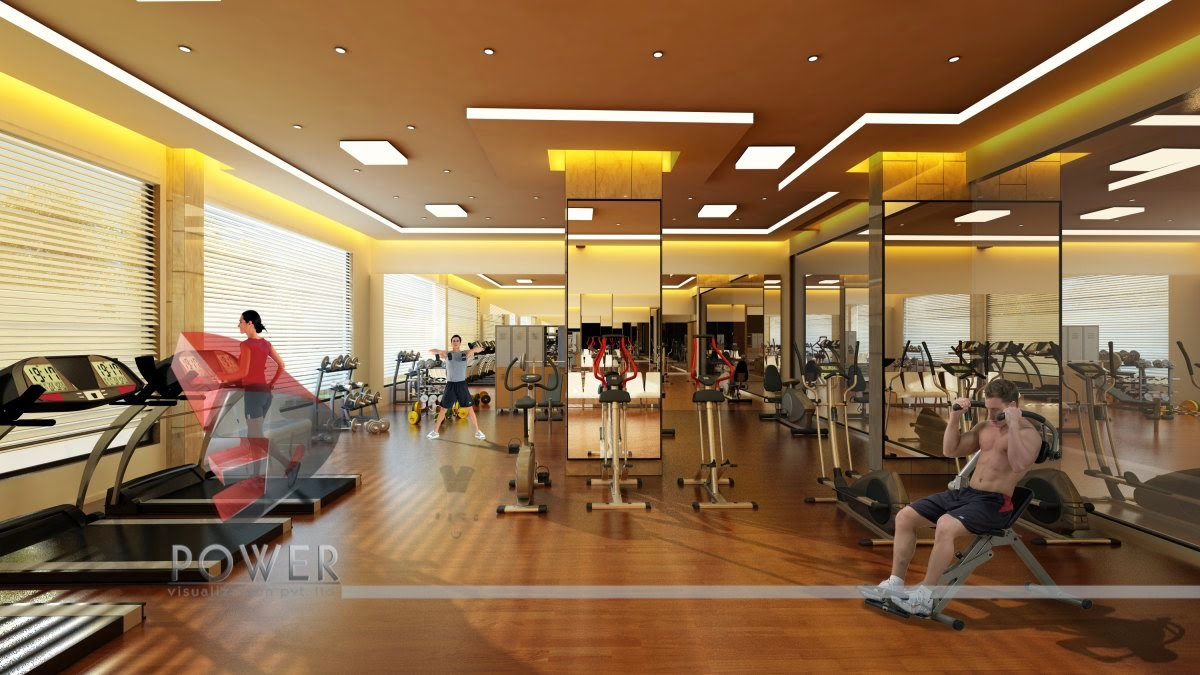 GYM Interior In 3D Style