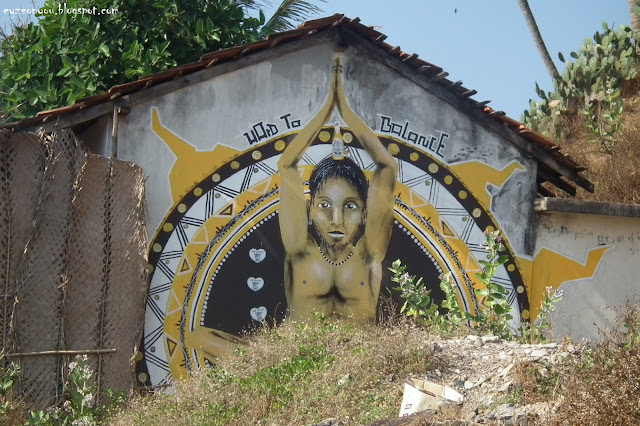 Amazing Painting on House in North Goa