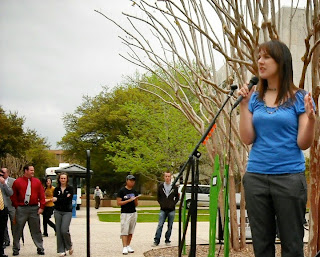 At UT Arlington she developed programs against sexual violence on campus.