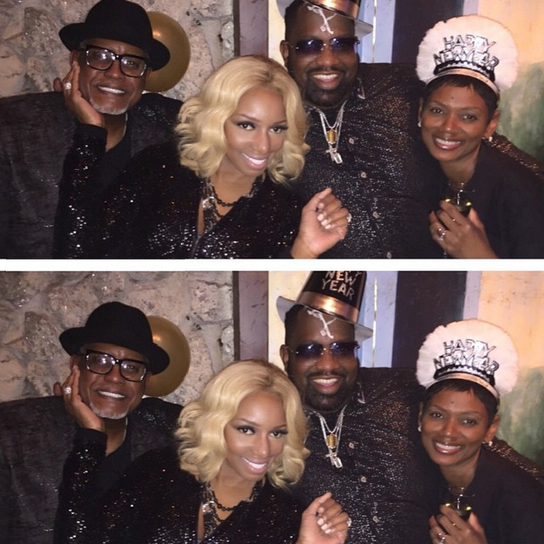 Nene Leakes and Gregg Leakes New Years Eve in New York