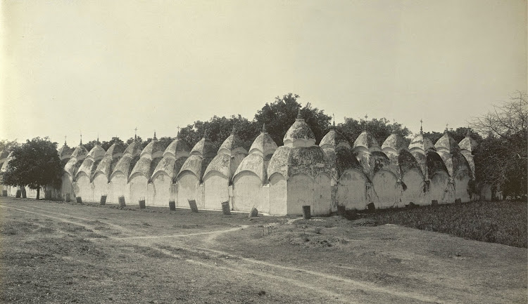 The 108 Temples (Nawab Hat) - Burdwan (Bardhaman), Bengal, 1904