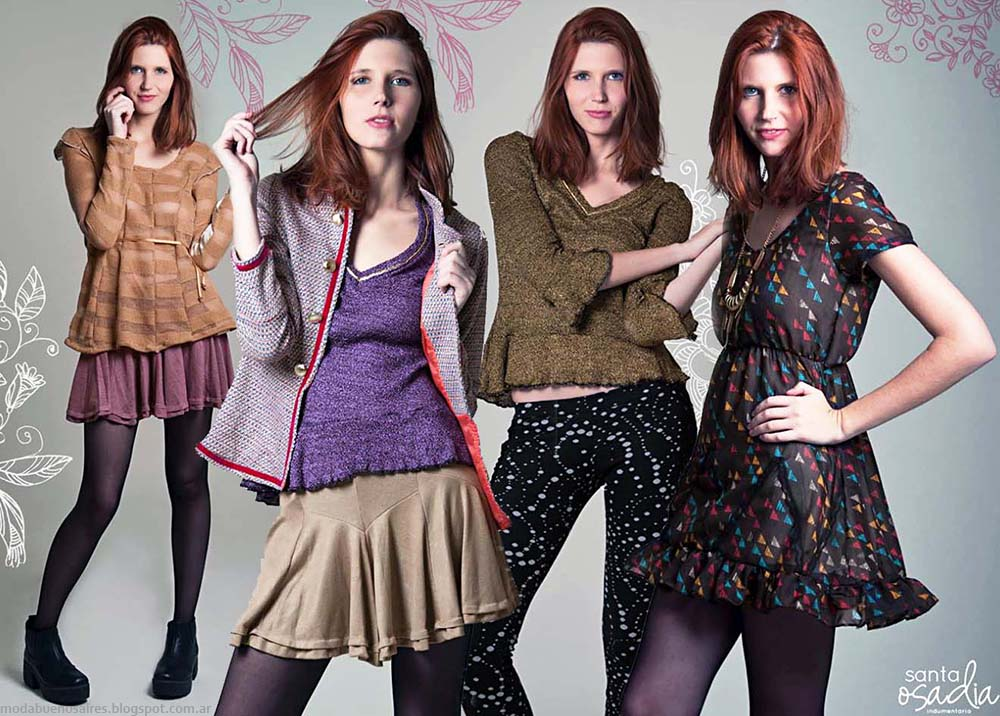 Moda casual invierno 2014. Santaosadía colección otoño invierno 2014, ropa de mujer.