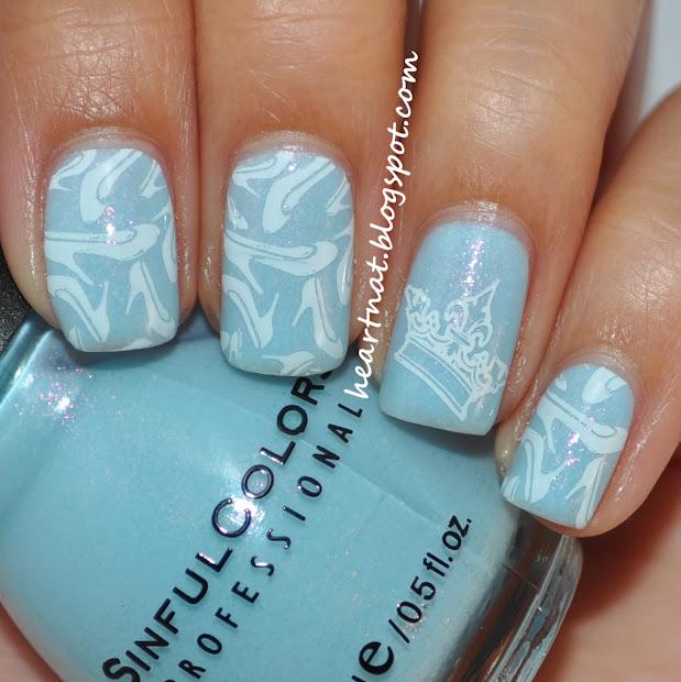 heartnat cinderella inspired nails