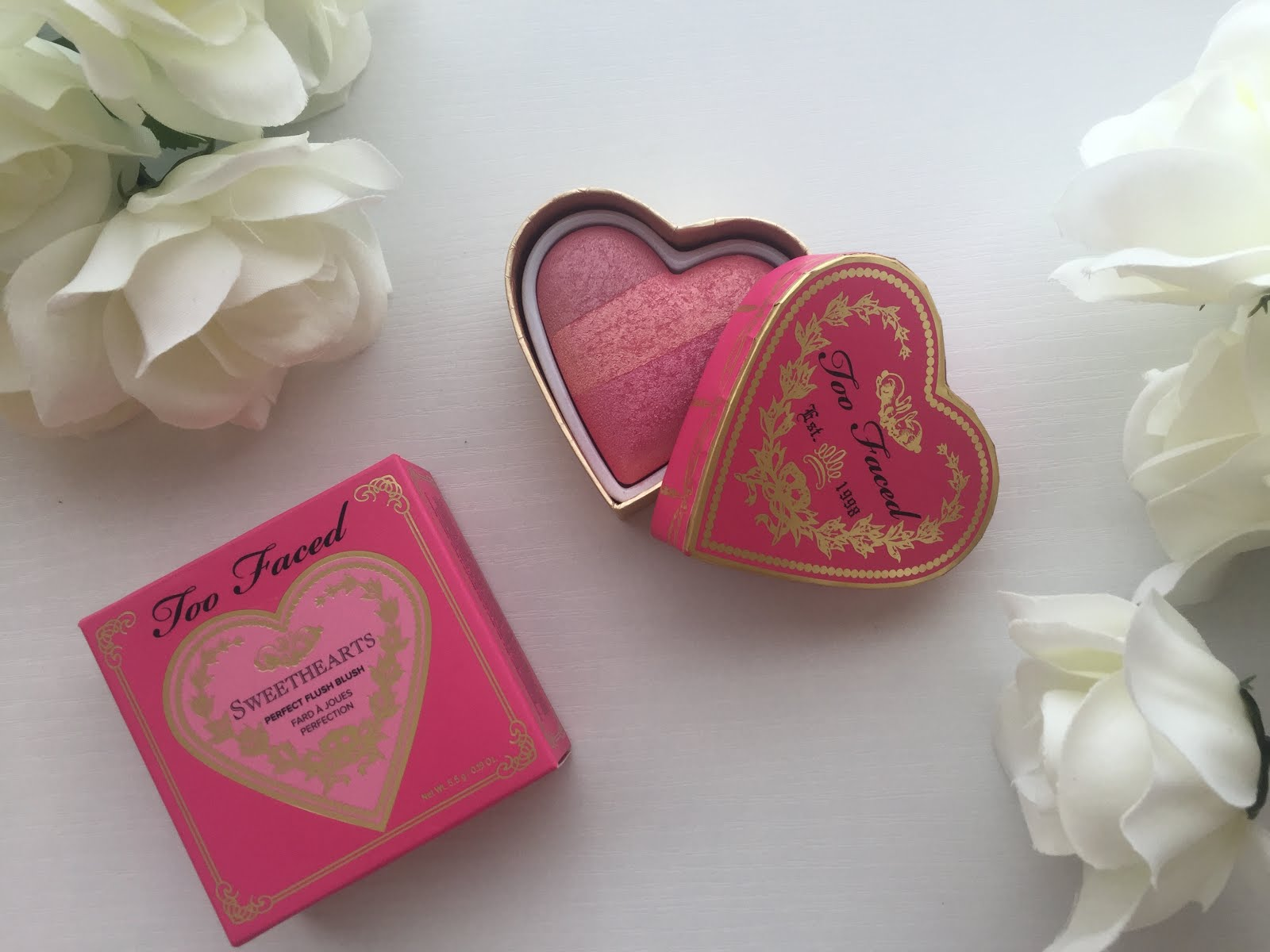 Review Swatches Too Faced Sweetheart Perfect Flush Blush Being