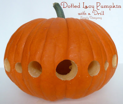 Dotted Lacy Pumpkin using a Drill from Simply Designing #pumpkin #pumpkincarving #halloween