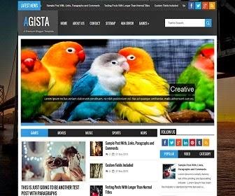 Agista Responsive Premium Blogger Template