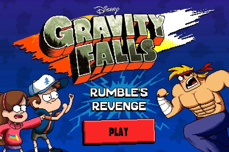 Gravity falls sidescroller