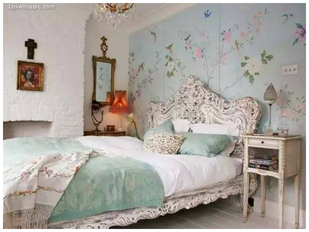 vintage bedroom, shabby chic