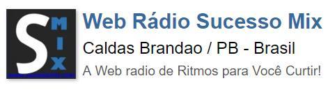 WRSM Web Radio Sucesso Mix Caldas Brandao Paraiba