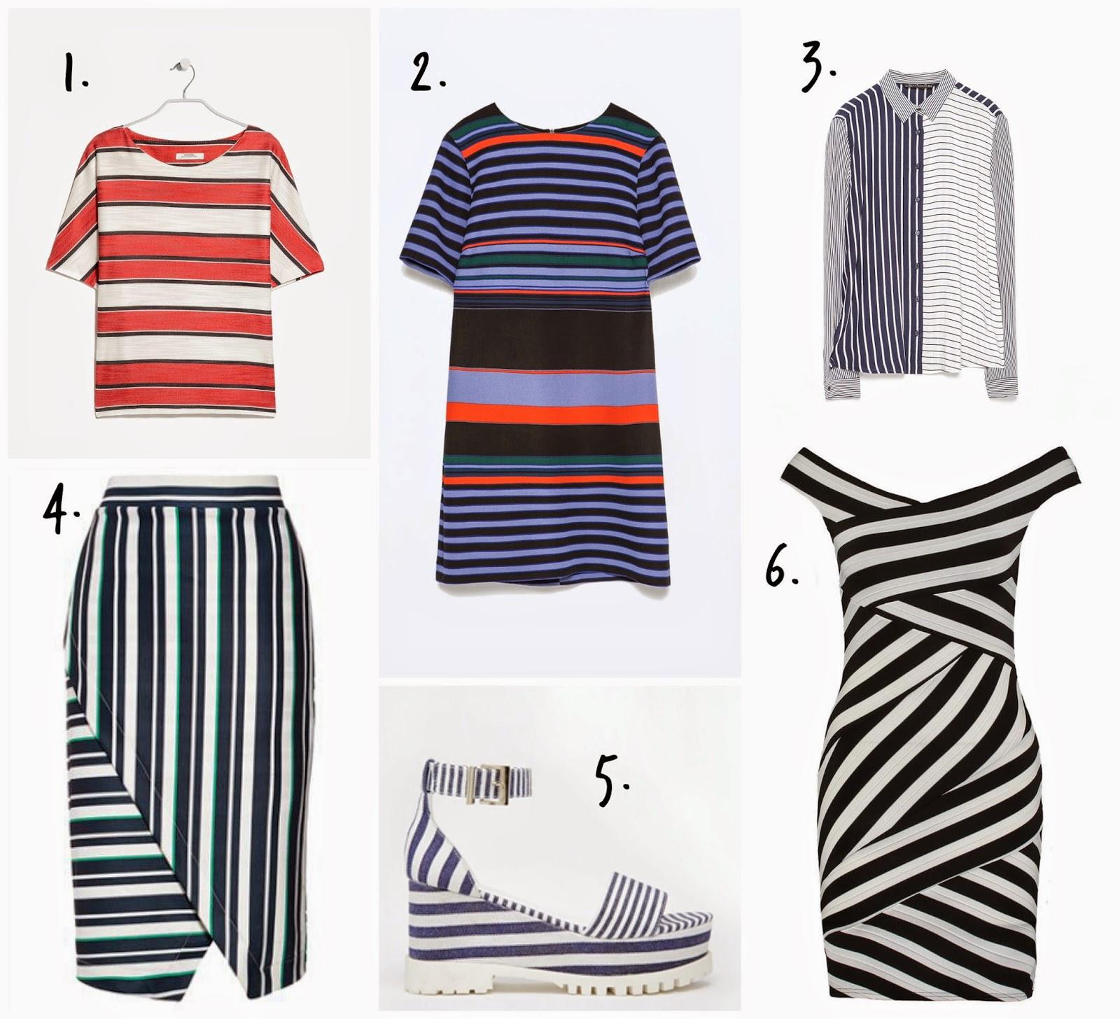 Tendencia Trendy estampado rayas primavera verano 2015 moda desiguales vestidos