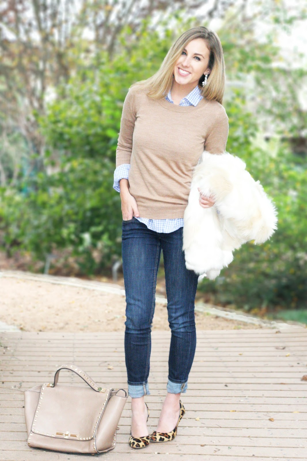 beige-cardigan-crew-neck-sweater-layered-with-fur