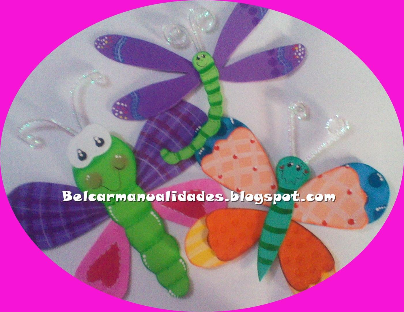 C rolin mariposas en foami for Escarapelas en foami