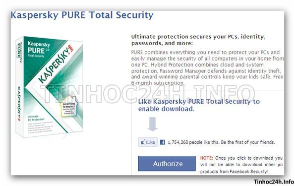 step 2 Kaspersky PURE 2.0 Total Security bản quyền 6 tháng miễn phí