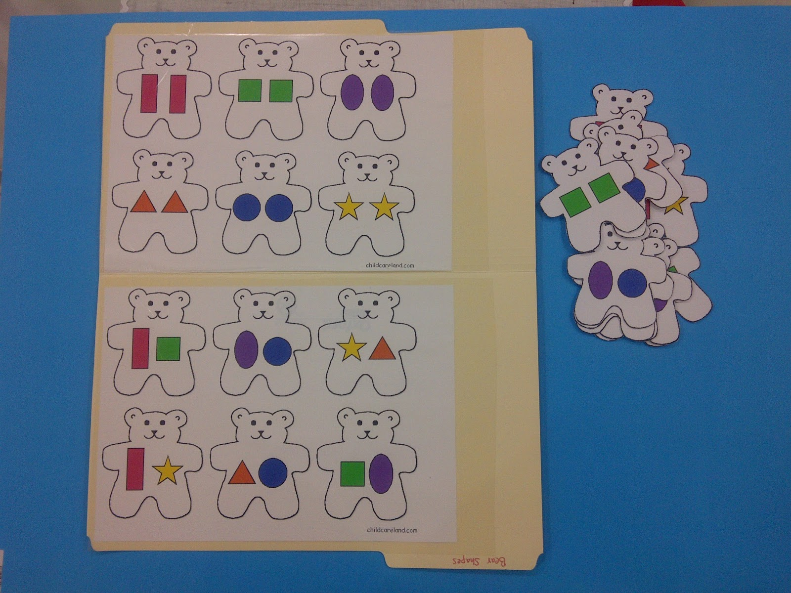 Teddy Bear Shape Matching from childcareland